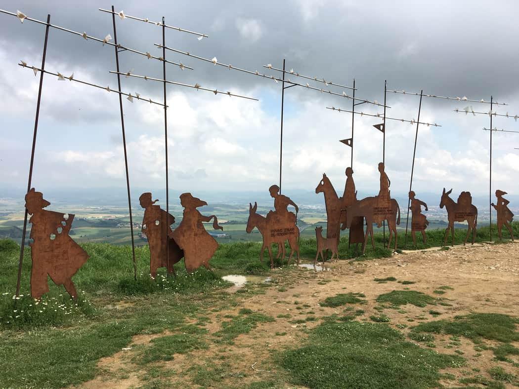 Alto del Perdon sculpture on the French Camino