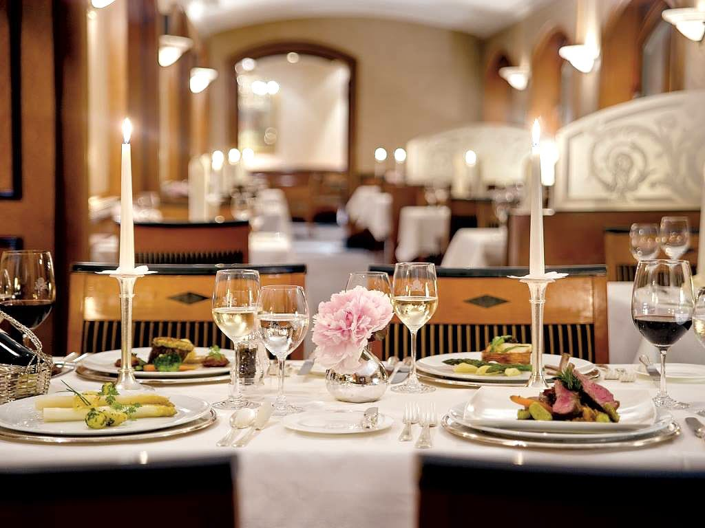 Dine by candlelight at the acclaimed Atlantic restaurant in the Hotel Atlantic, Hamburg