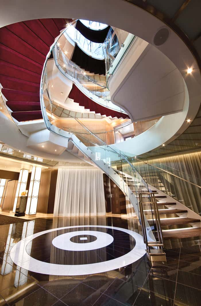 Atrium on Seabourn ships