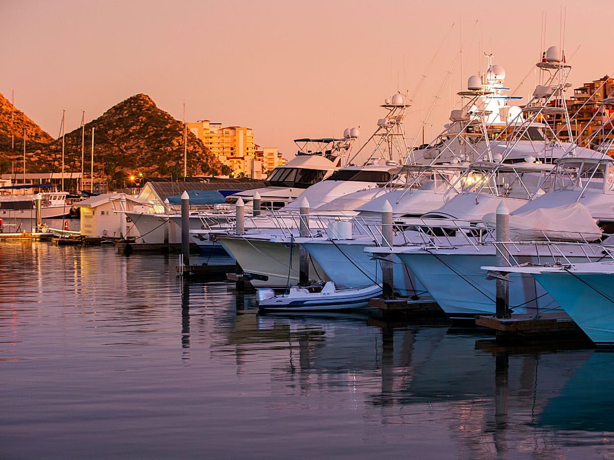 Cabo San Lucas Marina at night