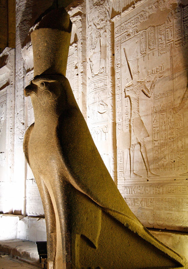 A god in the form of a falcon, Horus was the protector of the rulers of Egypt