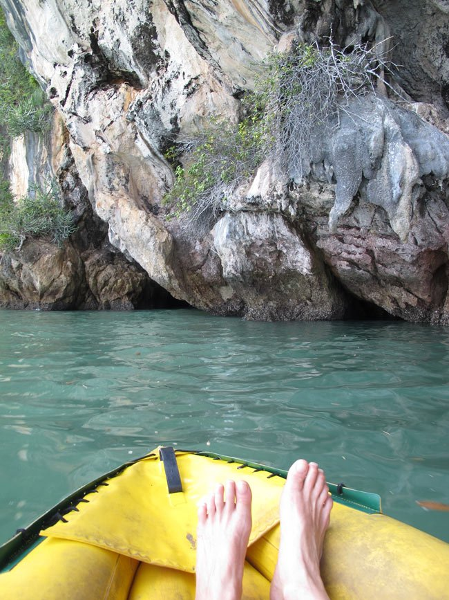 Sea canoeing Phang Nga Bay makes for a great day trip from Phuket