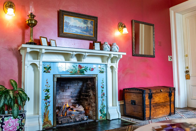Fireplace at Madrona Manor