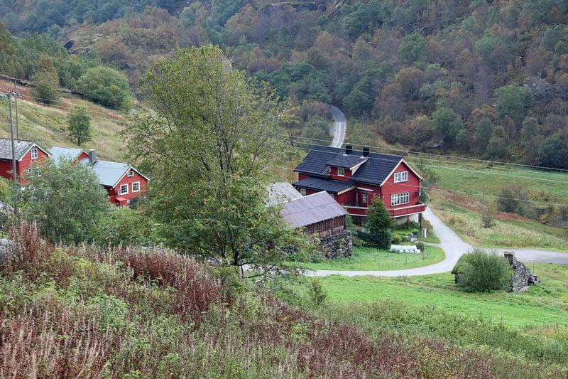 Houses in Flam, Norway