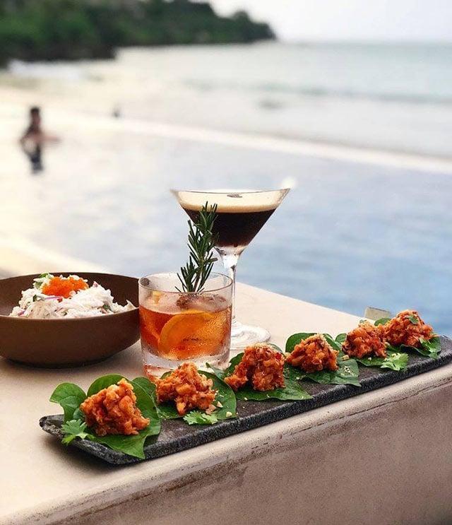 Trendy Indonesian tapas are the specialty at Sundara Beach Club