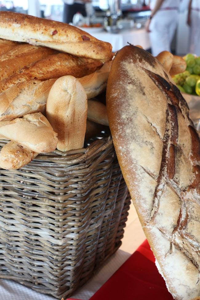 French bread on Ponant Cruises