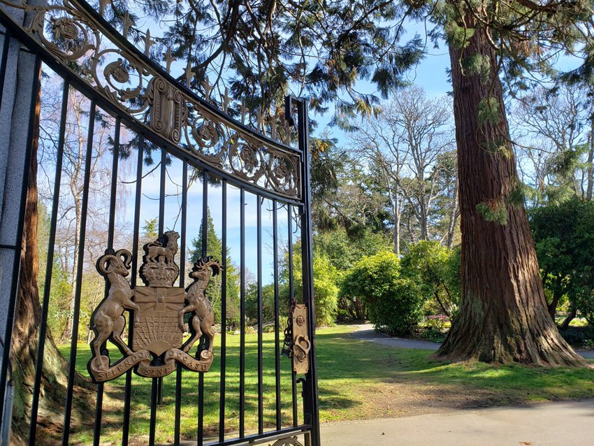 Gates to Government House, Victoria, BC