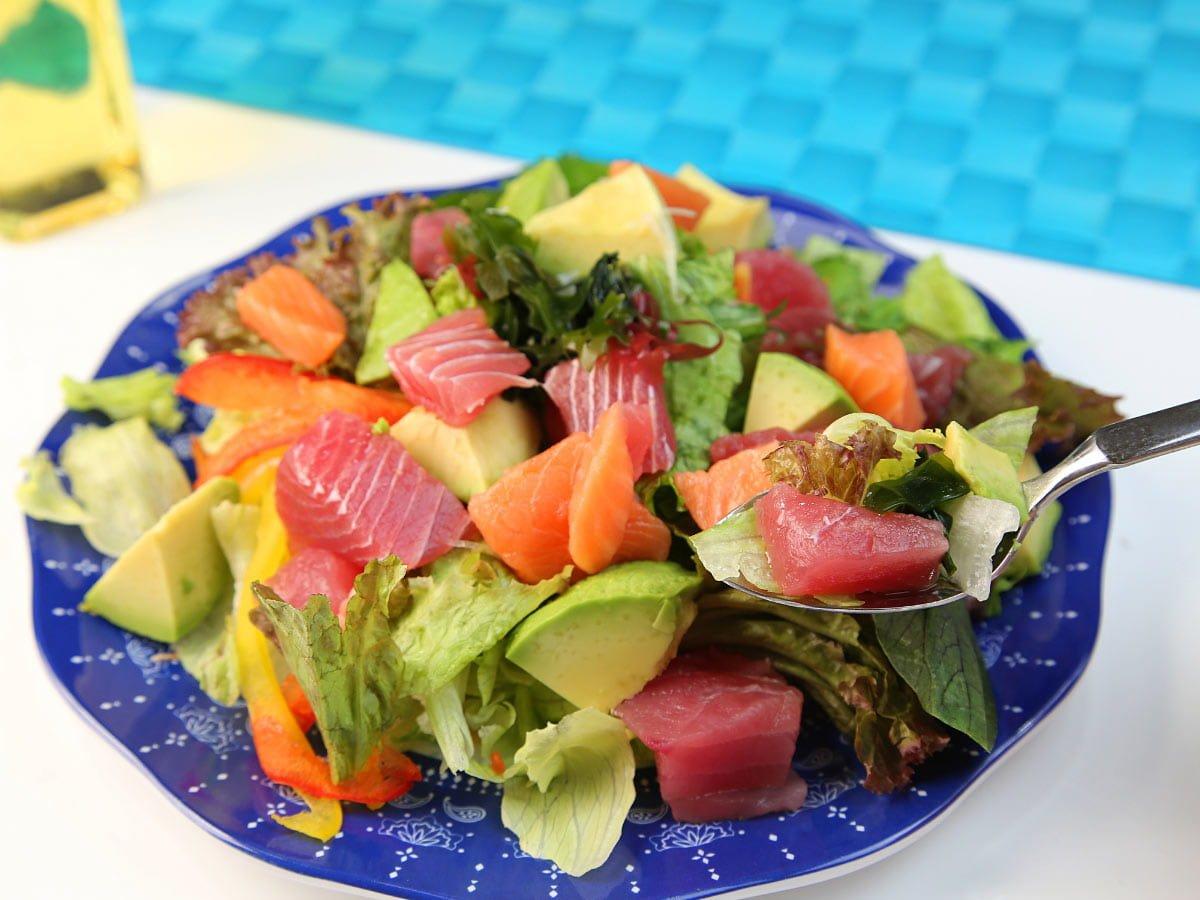 Hawaiian avocado salad