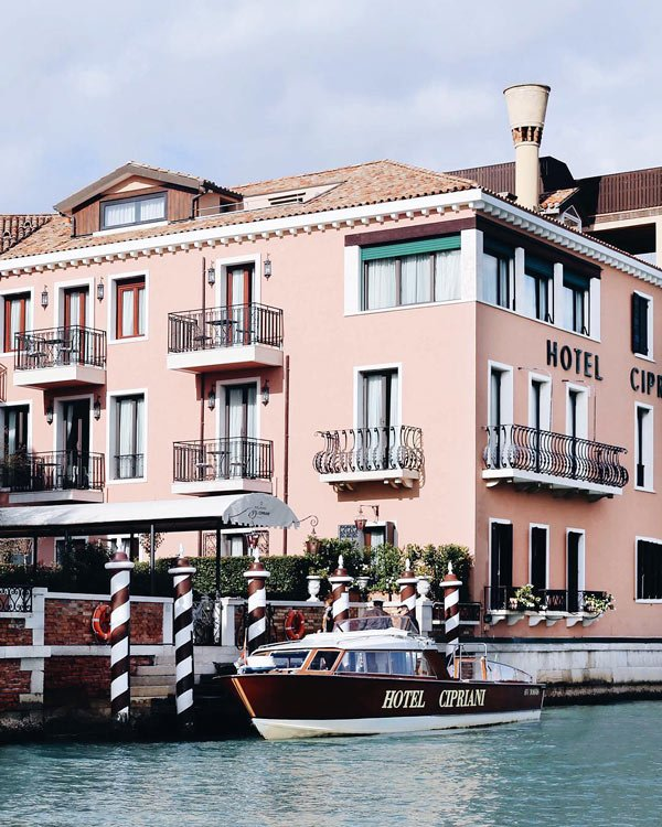 Hotel Cipriani is one of the most romantic luxury hotels in Venice, Italy