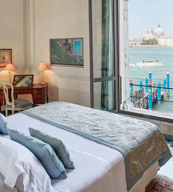 A guest room at Hotel Cipriani
