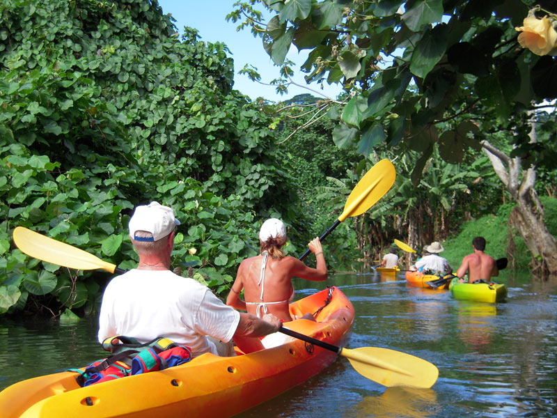 Kayaking the Faaroa River in Raiatea
