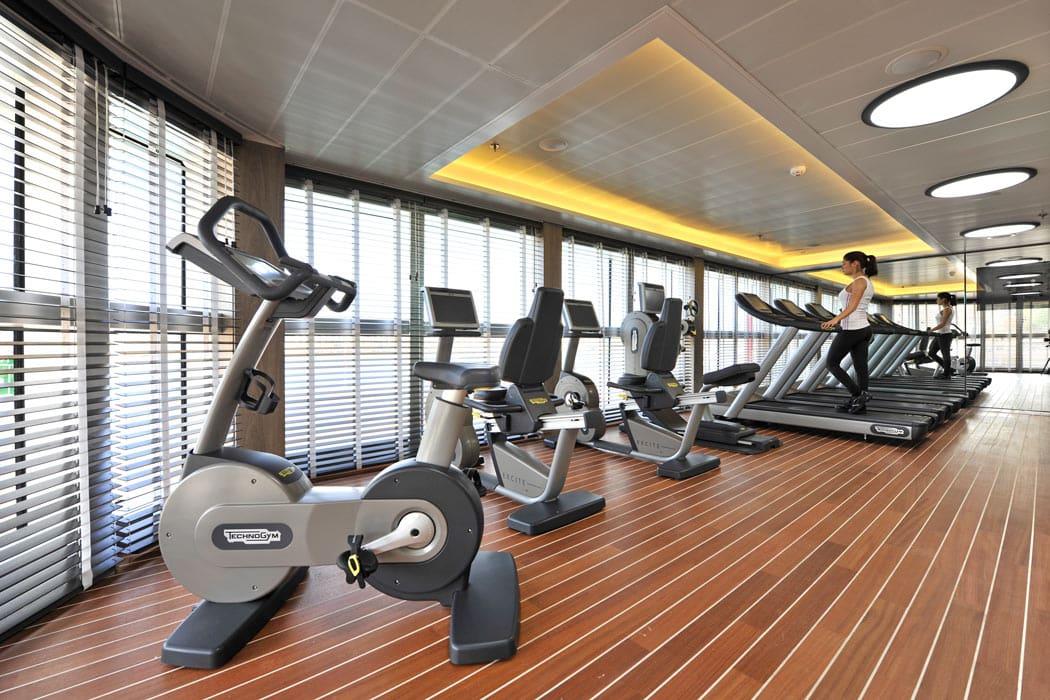 Gym on Le Boreal cruise ship