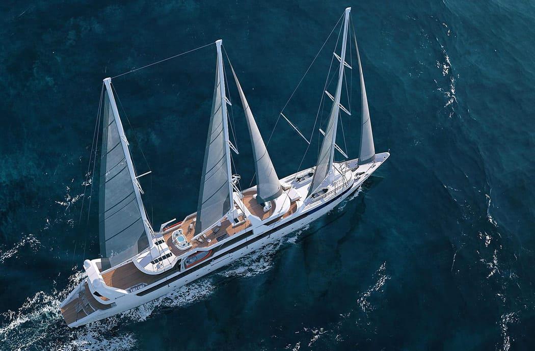 Le Ponant at sail