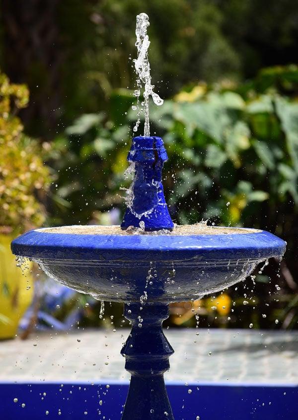 Fountain at Marjorell Gardens, Morocco