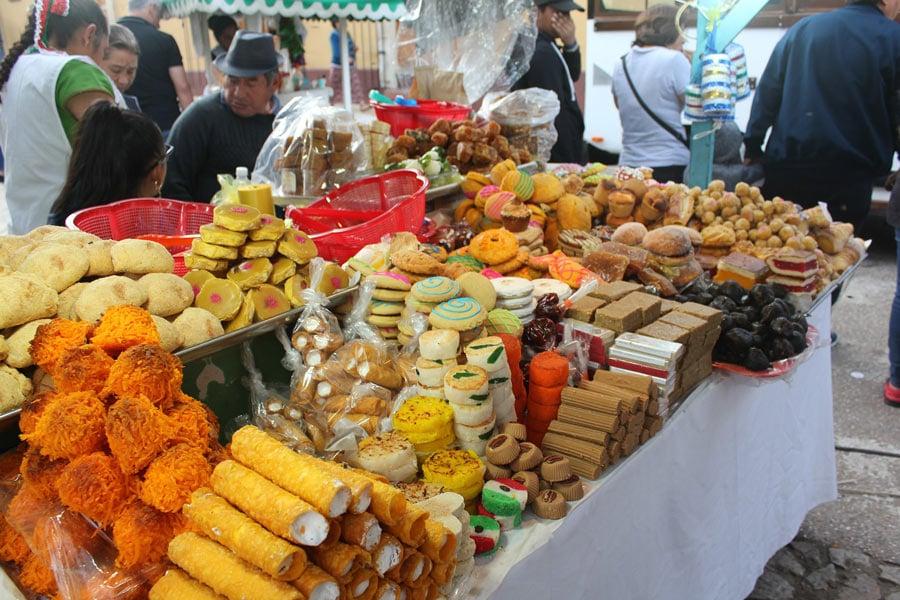 A market in San Cristobal, Mexico