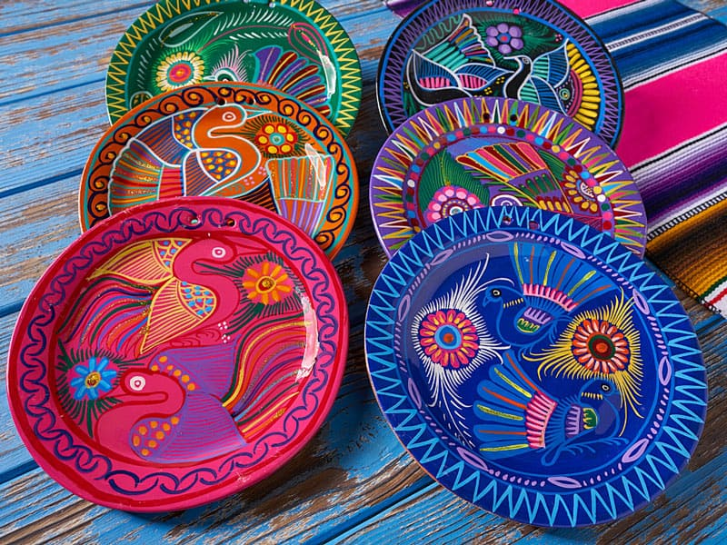 Mexican ceramic pottery for sale at Puerto Paraiso