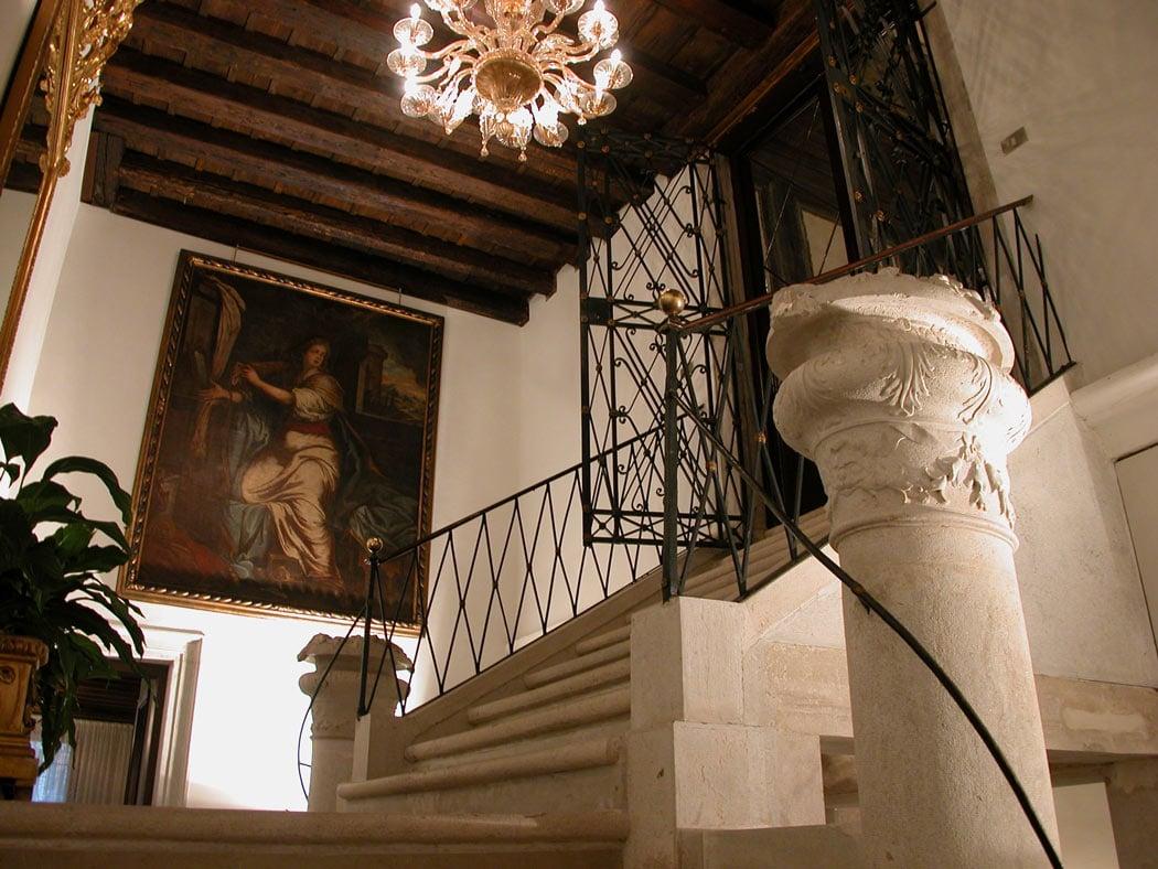 Marble staircase at Palazzo Abadessa