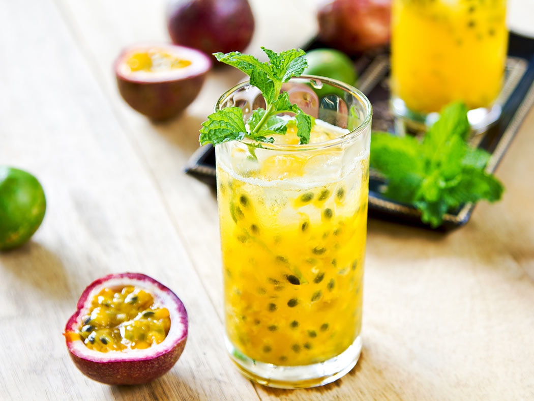 Passionfruit has a tart but sweet taste