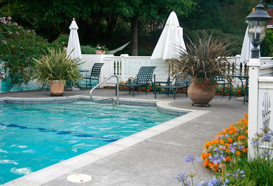 Swimming pool at Madrona Manor, Healdsburg