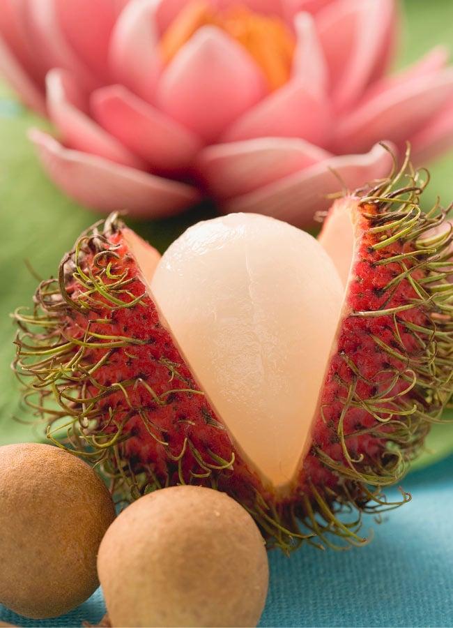 Hawaiian rambutan fruit