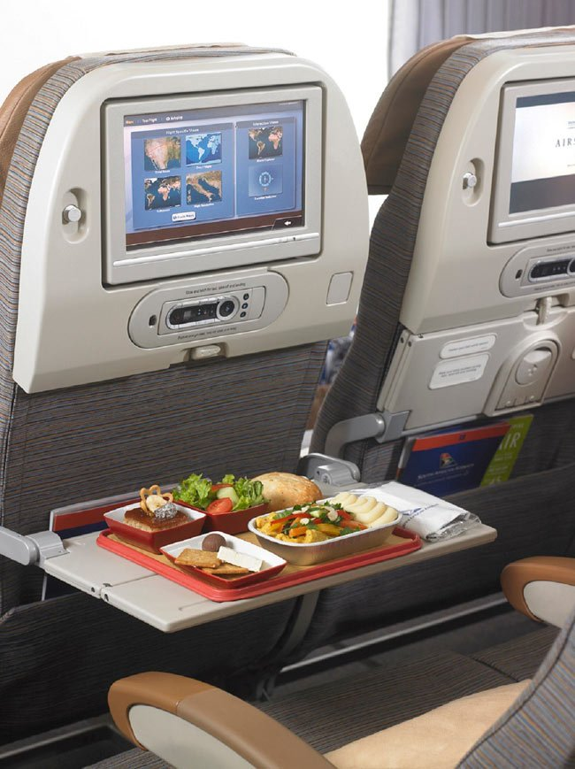 South African Airways Economy Class meal