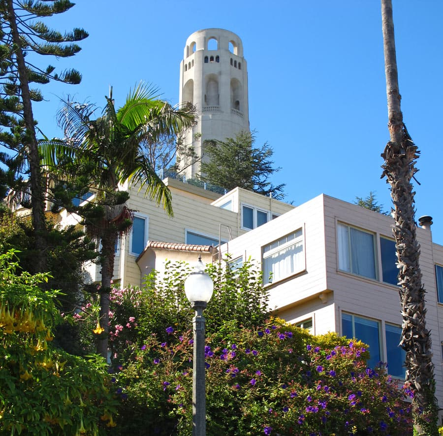 View of Coit Tower, San Francisco