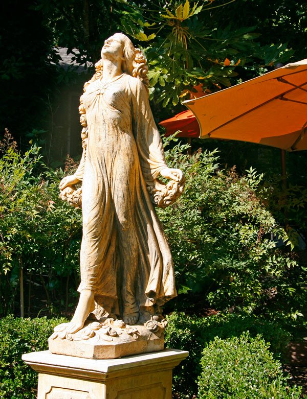 Sculpture in the garden at Kenwood Inn and Spa