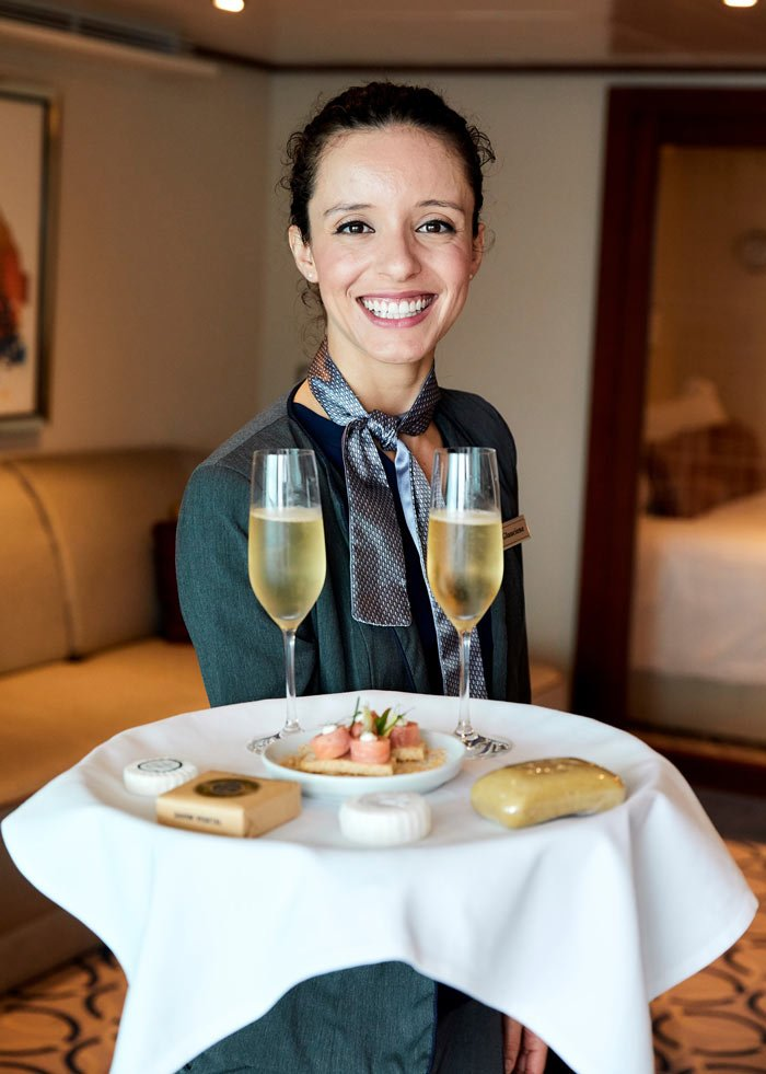 Suite stewardess on Seabourn Cruise Lines