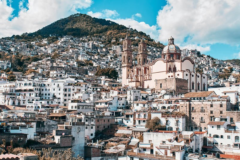 Look at the jumble of white houses in Taxco!