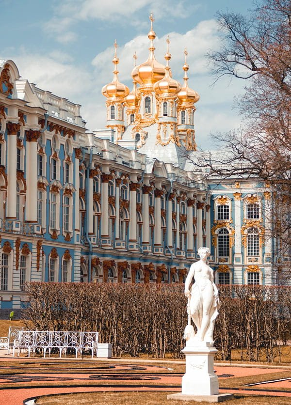 Empress Elizabeth turned Catherine Palace into a grandiose summer palace