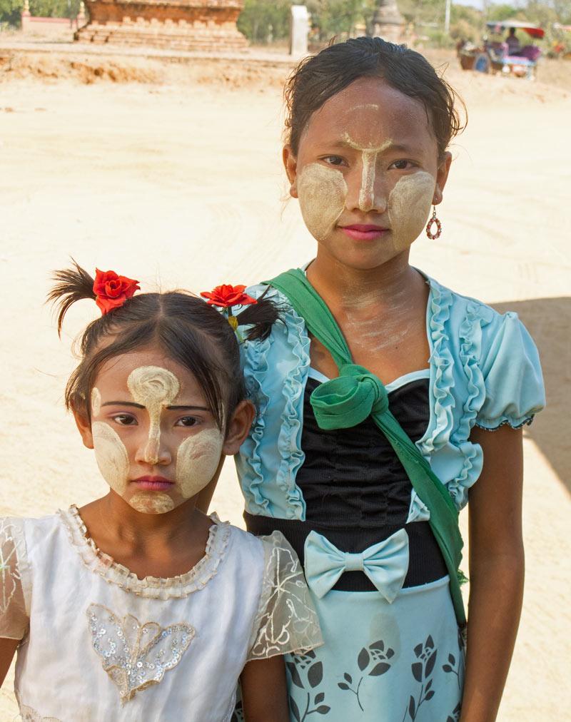 Two girls in Myanmar