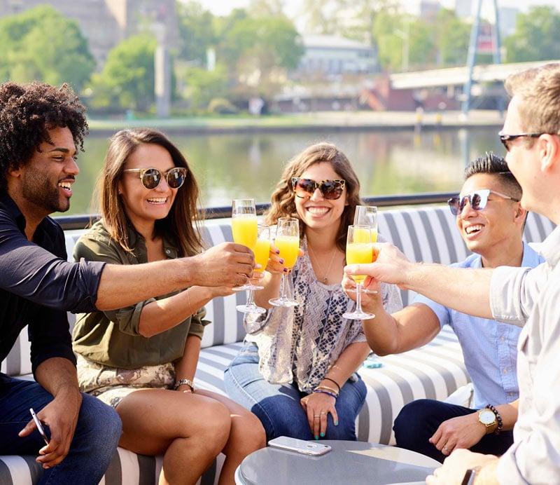 Guests enjoying their cruise on U by Uniworld