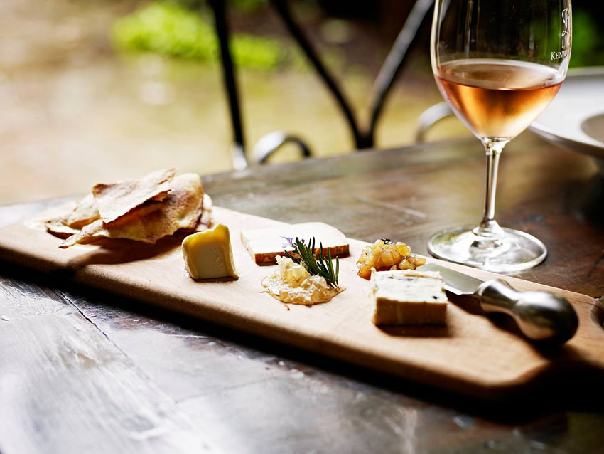 Wine and cheese at Kenwood Inn and Spa