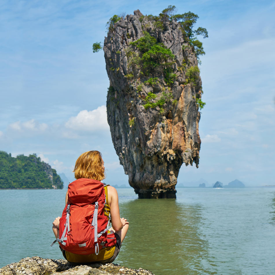 James Bond Island rises up dramatically 66 feet out of the water