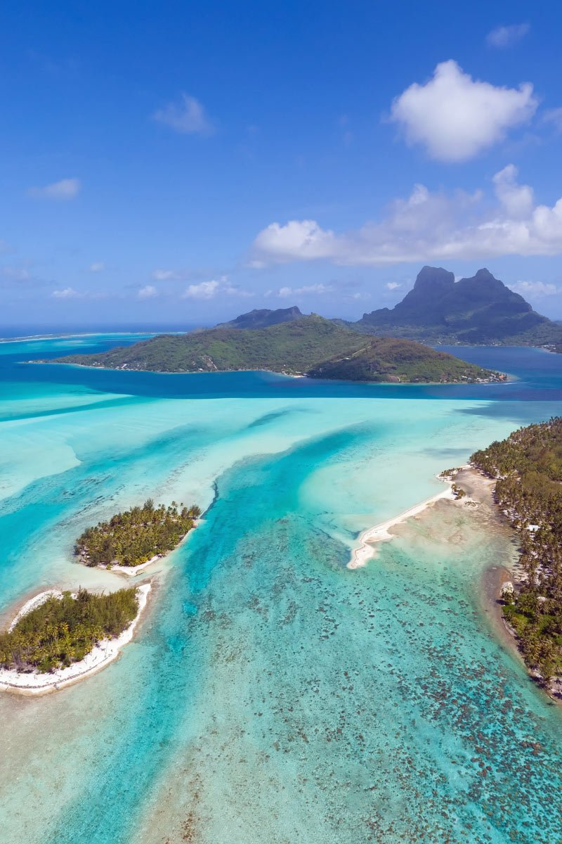 View on a Bora Bora helicopter ride