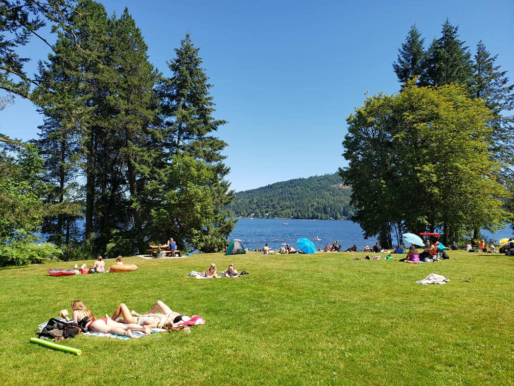 West Shawnigan Lake Park is one of our favorite swimming lakes near Victoria