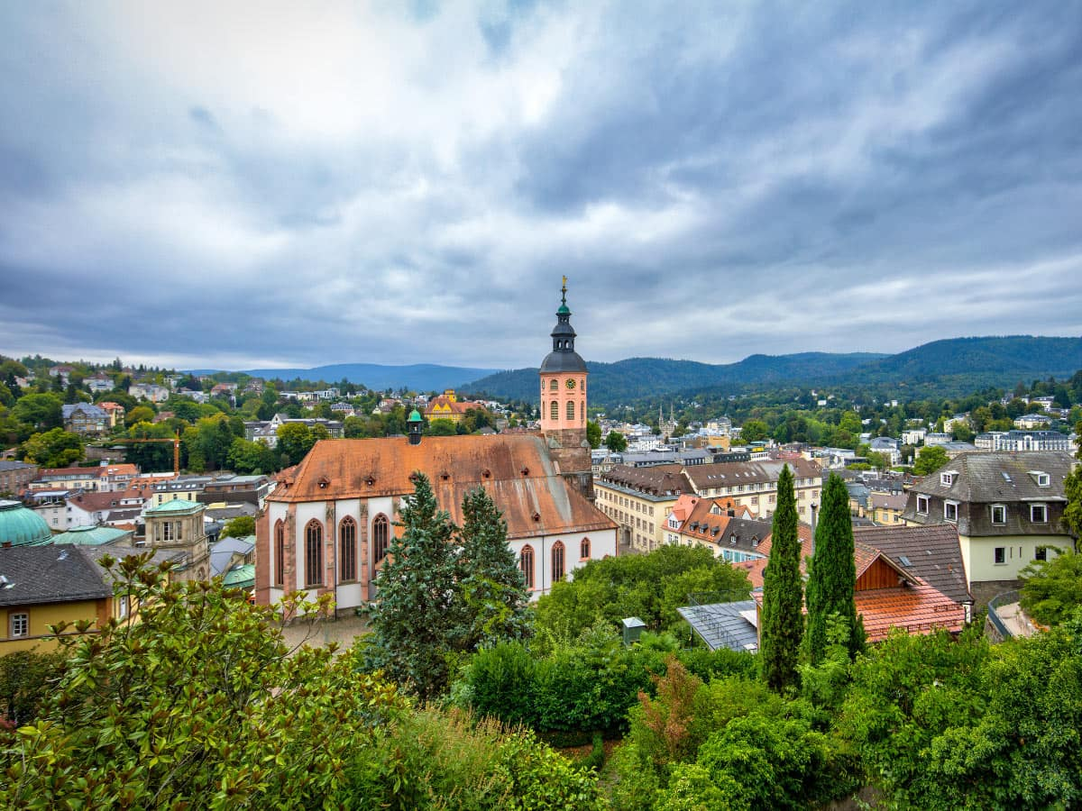 Baden-Baden is a beautiful spa town in Germany.