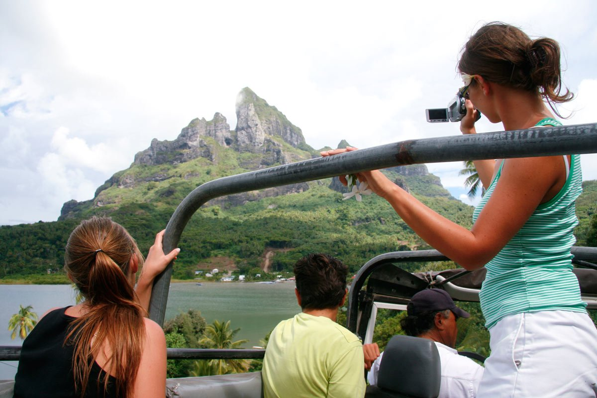 A jeep tour is one of the top activities in Bora Bora