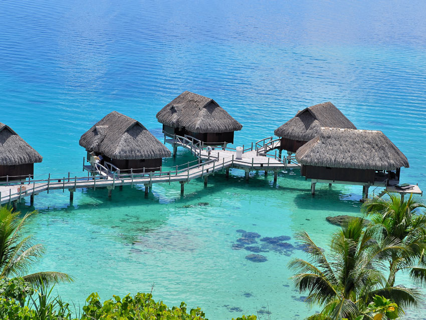 Staying in an overwater bungalow is a must-do Bora Bora experience