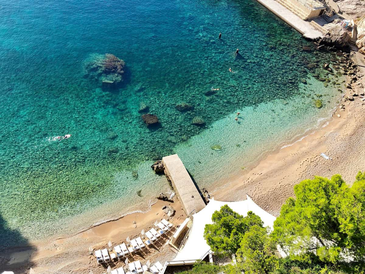 There are beaches in Dubrovnik where you can swim and cool off.