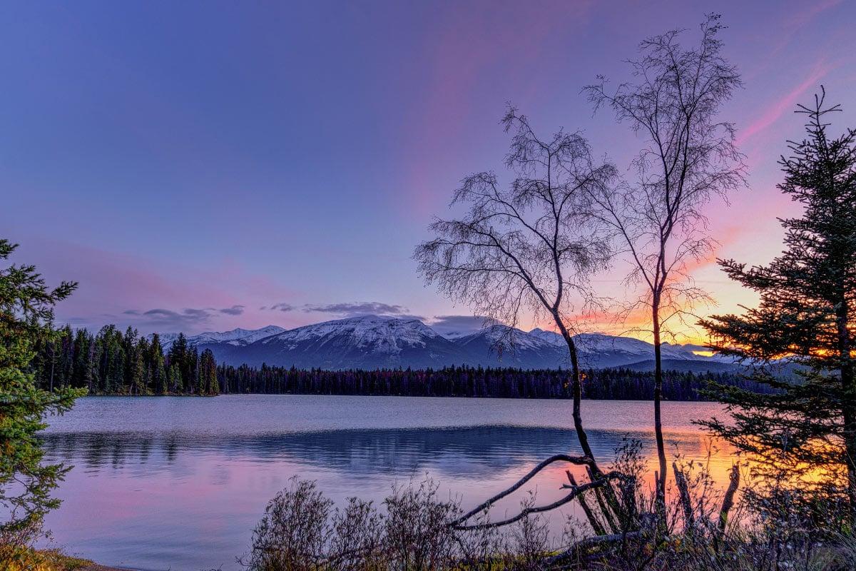 Edith Lake is one of the prettiest lakes in Jasper