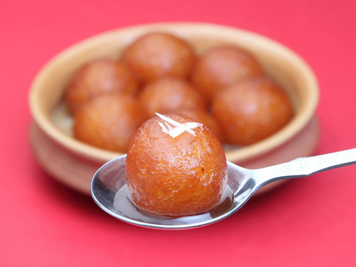 Gulab Jamun is a popular Indian dessert
