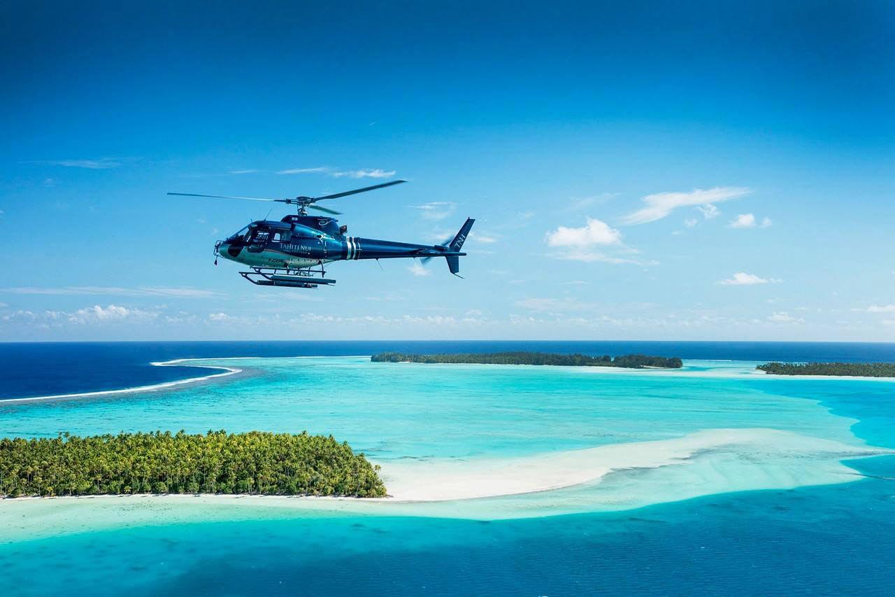 Bora Bora helicopter ride