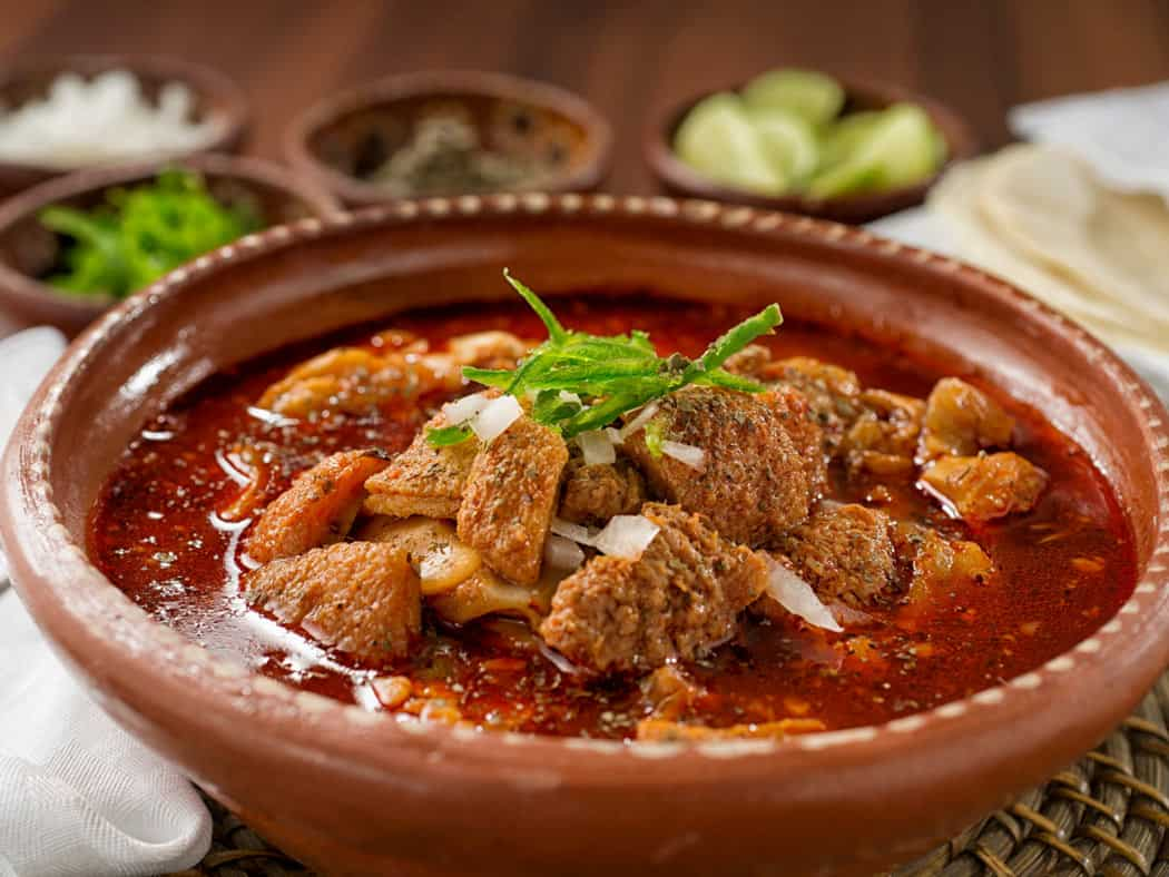 Weird Mexico food facts: Menudo is made with tripe.