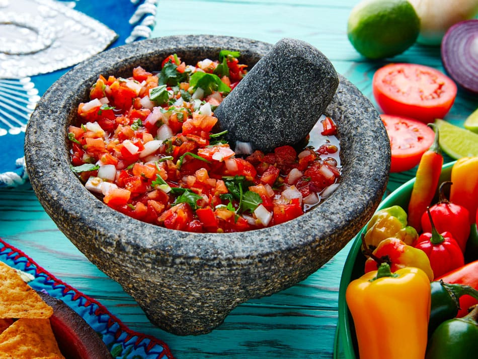 Fun Mexican food fact: A molcajete is used to grind up salsa or spices.