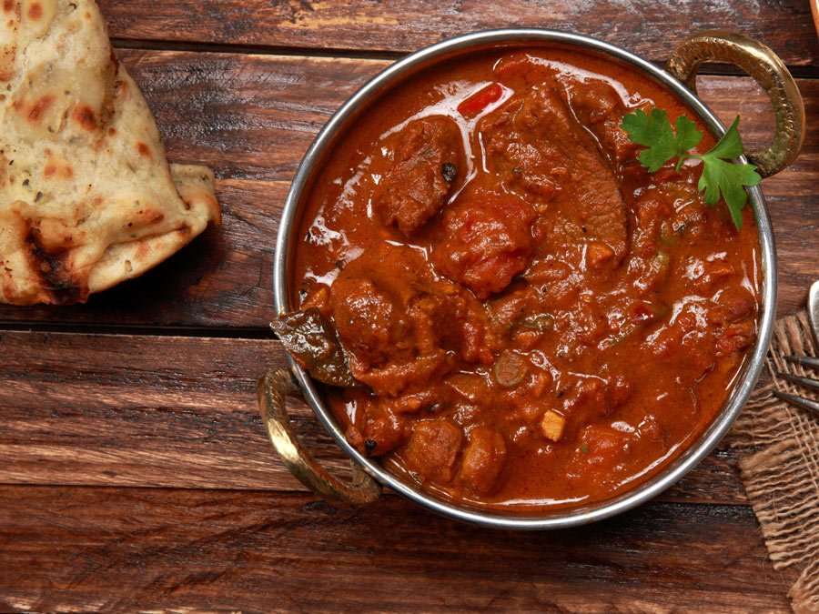 Rogan Josh is an aromatic lamb or beef curry