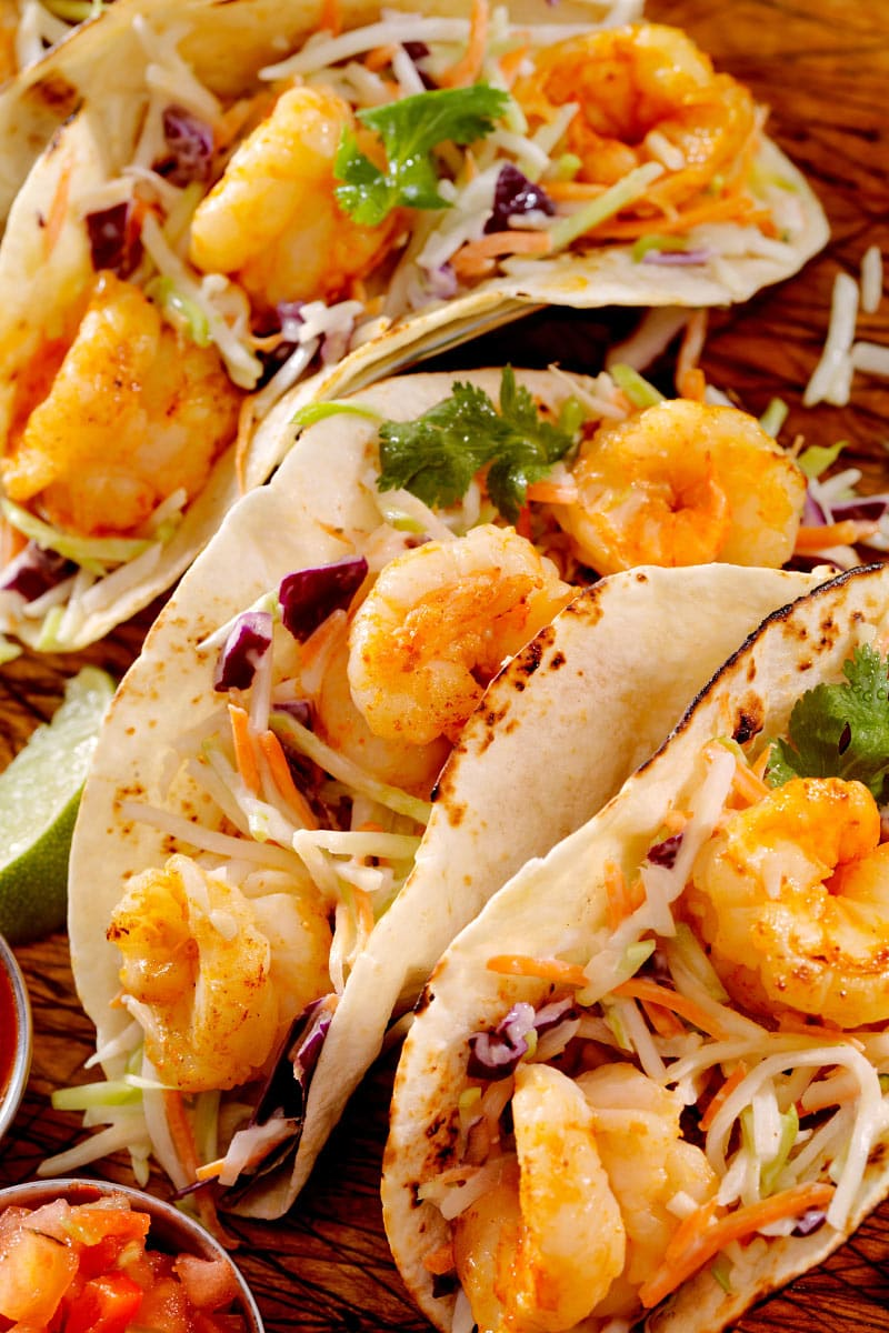 The shrimp tacos are always good in Cabo!