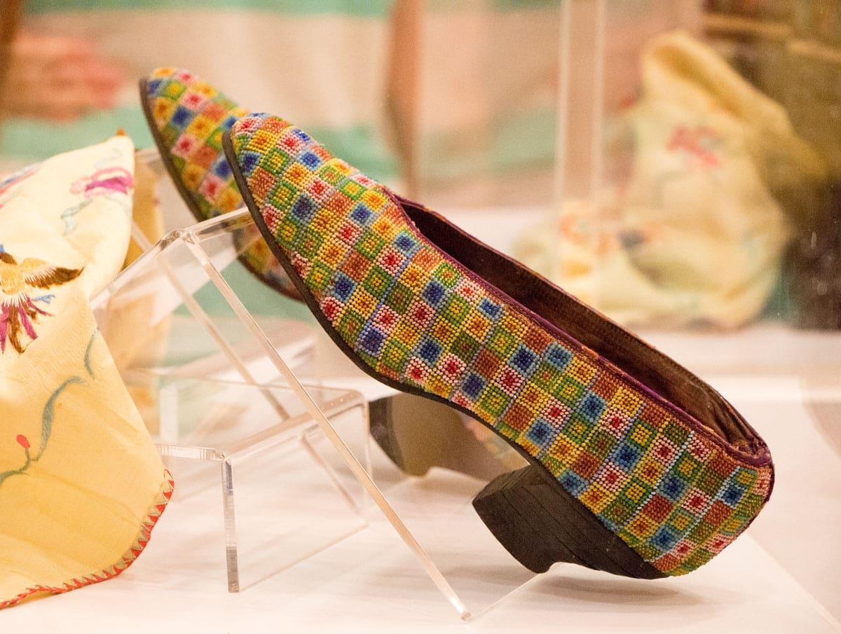 A pair of beautiful beaded shoes at the Pinang Peranakan Mansion