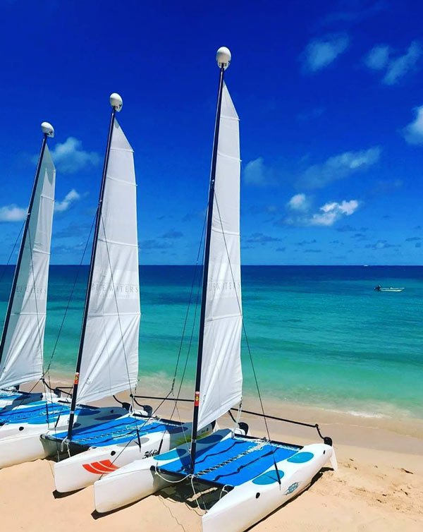 Free hobie cats at Blue Waters, Antigua