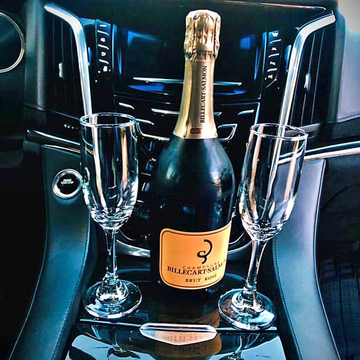 A champagne welcome with All Ways Cabo Transportation